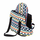 Geekercity Pet Carrier Purse for Small Little Medium Dogs Puppy Cats, Fashion Portable Soft Backpack Tote Handbag Travel Bag Pouch for Women Indoor Outdoor Use (S) Review