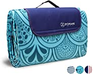 ZOMAKE Picnic Blanket Waterproof Extra Large, Outdoot Blanket with Waterproof Backing for Family Concerts,Beac