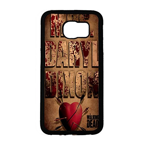 Samsung Galaxy S6 Cover Shell Fashion Vintage Heart Style Horror Zombies TV The Walking Dead Phone Case Cover Hipster Weird