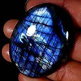 174.80Cts.NATURAL AMAZING!! BLUE FLASH SPECTROLITE LABRADORITE OVAL CAB GEMSTONE