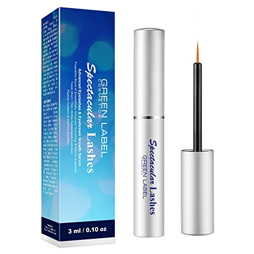 "Eyelashes & Eyebrows Growth Products. Eyelash Growth Serum & Eyebrow Enhancer: ""Spectacular Lashes"". Green Label Cosmetics"