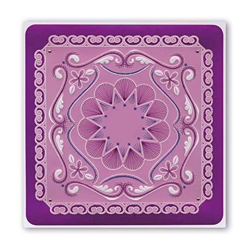 Clarity Stamps Tinas Stickerei Blumen A5 quadratisch Groovi Teller