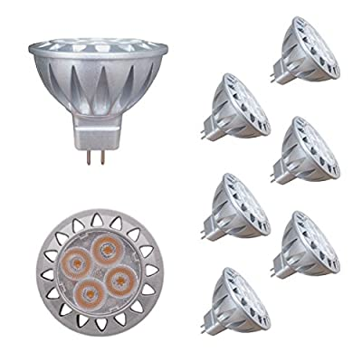 ALIDE MR16 GU5.3 Led Bulbs 5W,Replace 35W Halogen EquivalentCeil Outdoor Landscape Lighting,Not Dimmable,50mm,400lm,38°,6pcs