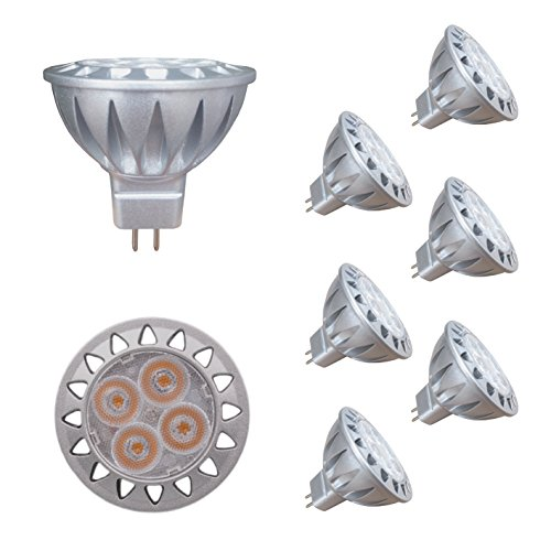 Mr11 Reflector - ALIDE MR16 GU5.3 Led Bulbs 5W,20W 35W Halogen Replacement Equivalent,2700K Soft Warm White,12V Low Voltage Bulb Spotlights for Outdoor Landscape Flood Track Lighting,Not Dimmable,50mm,400lm,38°,6pcs