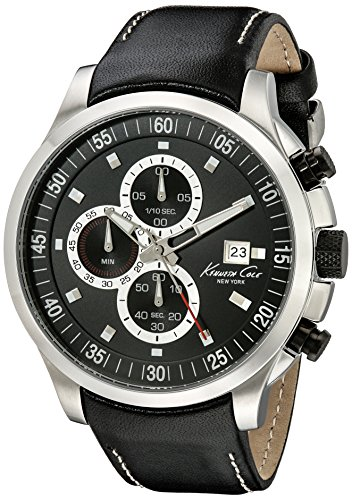 Kenneth Cole New York Men's KC8093 Dress Sport Analog Display Japanese Quartz Black Watch