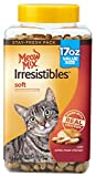 Meow Mix Irresistibles Cat Treats Soft with White Meat Chicken, 17 oz(Pack of 4)