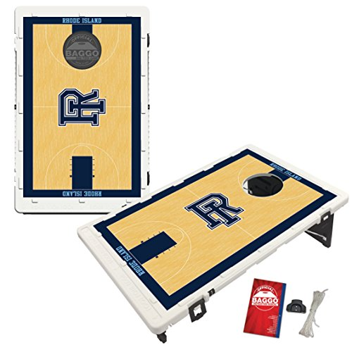 Rhode Island University of Rams Baggo Bean Bag Toss Cornhole Game Homecourt Design by Victory Tailgate