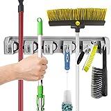 Shovel, Rake and Tool Holder with Hooks- Wall