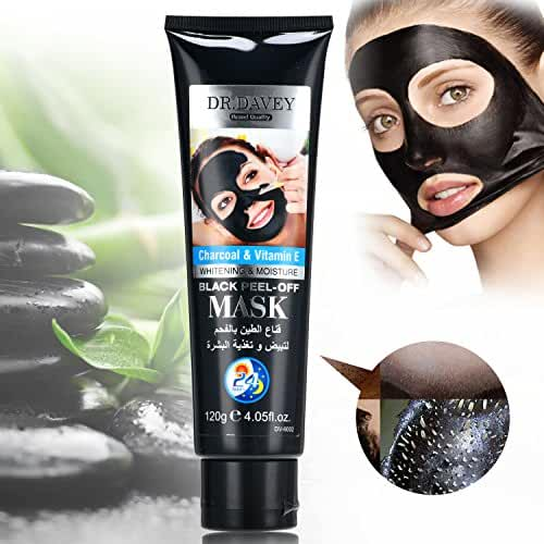 DR.DAVEY Blackhead Remover Mask Black Facial Clean Bamboo Charcoal Peel-off Mask Deep Cleansing Mud Mask 120g