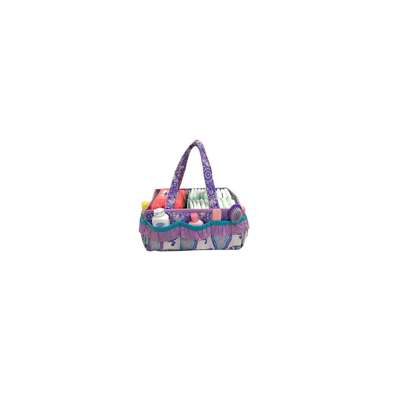 Bacati – Paisley Kids Storage (Nursery Storage Caddy, Lilac/Purple/Aqua)