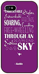Unbelievable sights, undesirable feelings, soaring and and free wheeling - Inspired by Peter Pan - iPhone 4 / 4s black plastic case / Inspiration Walt Disney quotes