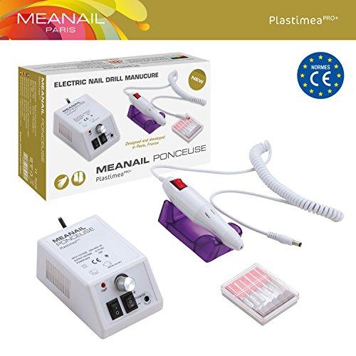 Meanail Elektrische Nagelfräser Set für Maniküre und Pediküre wie im Nagelstudio + 6 Ansatzstücke - Extreme Leistungsstärke