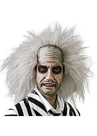 los 80 peluca Beetlejuice gótico loco