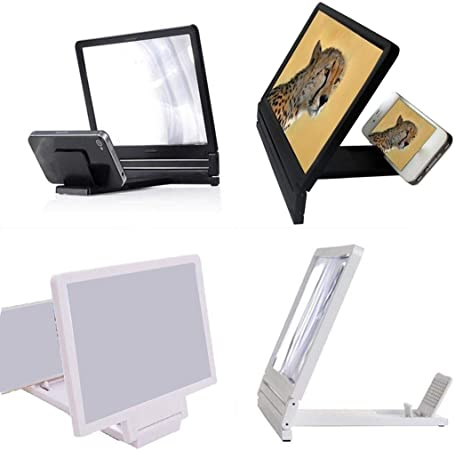 dalinana Curved Screen Smartphone Magnifier Eye Protection HD Video Amplifier Stands