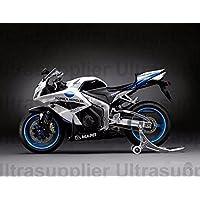 Black White Blue Complete Fairing Kit Injection For 2007-2008 Honda CBR600 RR CBR600RR
