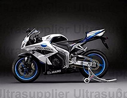 amazon com black white blue complete fairing kit injection for 2007  cbr1000rr fairings image unavailable