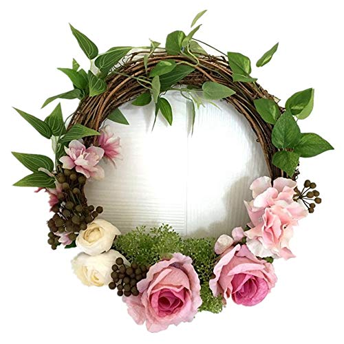 Adeeing 12 Inches Floral Artificial Rose Green Leaves Flower