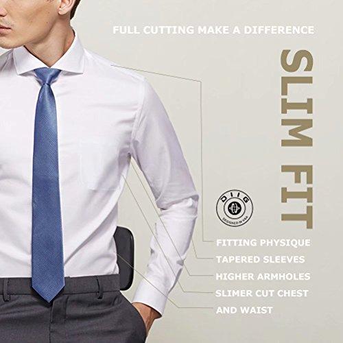 diig Men Dress Shirt White 14.5 by diig (Image #1)