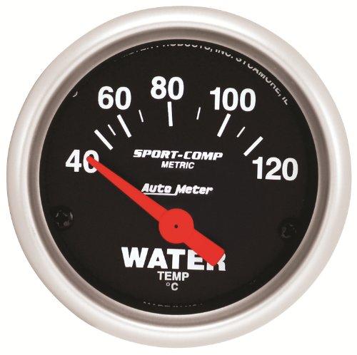 Auto Meter 3332-M Sport-Comp Mechanical Metric Water Temperature Gauge ()