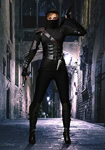 Womens Ninja Assassin Fancy dress costume Medium: Amazon.es ...