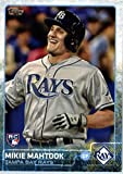 2015 Topps Update #US299 Mikie Mahtook Baseball Rookie Card in Protective Display Case