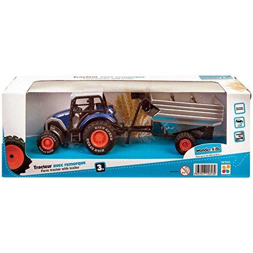 Wonder Kids WONDERKIDS Wdk Partner-A1500135-Véhicule Miniature-Modèle Simple-Tracteur en Métal + Remorque, A1500135 Modèles simples