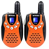 Retevis RT-602 Rechargeable Kids Walkie Talkies 22 Channel FRS/GMRS UHF 462.5625-467.7250MHz 2 Way Radio for Children (Orange,1 Pair)