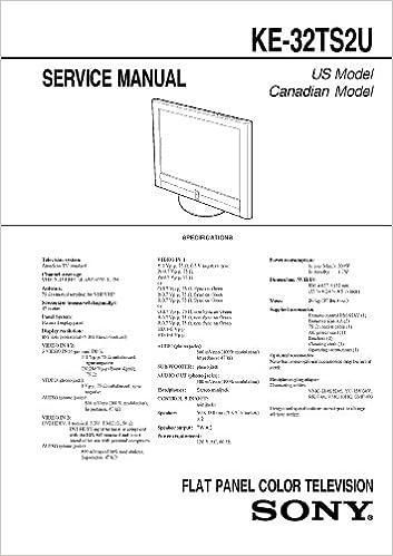 SONY KE32TS2U, KE-32TS2U Service Manual: Sony: Amazon.com: Books on