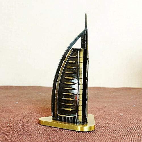 TLLDX Vintage Model Handmade Classic Bronze Dubai Sailing Hotel Retro Handicraft Collectible Iron Art Sculpture Office for Christmas Xmas Home Decor Workplace Gift-DX2228