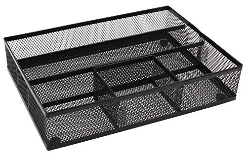 - EasyPAG Mesh Collection Desk Drawer Organizer Accessories Tray,Black