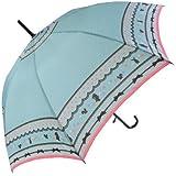 【無償修理対象】 うさぎ りす 動物 かわいい 60cm ジャンプ傘 (ライトグリーン)