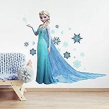 RoomMates York Wallcoverings RMK 2371GM Lámina adhesiva Gigante para Pared de Elsa, Frozen: Una Aventura Congelada, con estilo para Desprender y Pegar Elsa Estándar