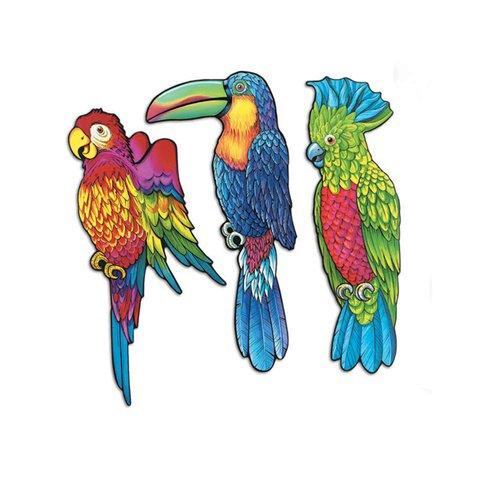 Pkgd Exotic Bird Cutouts   (3/Pkg) ()