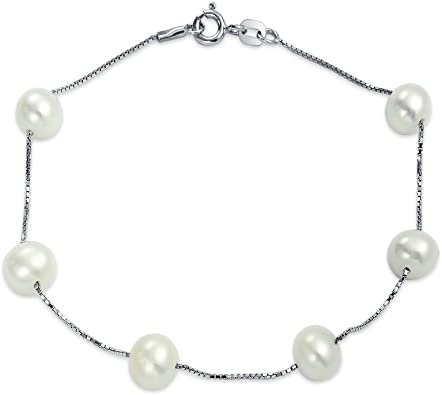 bracelet with freshwater pearl handmade and 925 silver black pearl silver bracelet white pearl bracelet fashion bracelet
