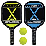 Franklin Sports 2 Player Pickleball-X Set - Includes 2 Aluminum Paddles and 2