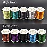 10 Multi Colors 300D Floss Thread Silk Shiny Fly Tying Thread Fly Tying
