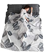 TRIWONDER Sleeping Bag Liner Cotton Camping Travel Sheet Sleep Sack Adult for Hostels Outdoor Picnic Planes Trains