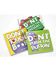 Don't Push the Button Gift Set: Interactive Storytime Books for Toddlers