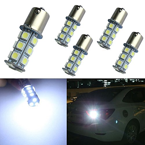 5 X1156 1141 1003 7506 BA15S 18 SMD RV Camper White LED Light Bulbs Tail Backup