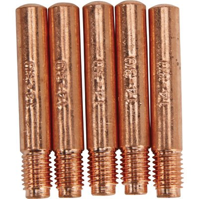 Klutch MIG Contact Tips - 5-Pack.030in, Tweco Style 3
