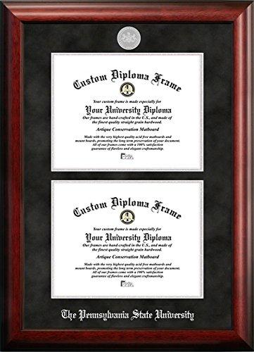 Penn State University Double Degree Diploma Frame (8.5 X 11)