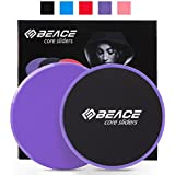 BEACE Exercise Core Sliders - Set of 2 Gliding Discs - Dual Sided for Carpet or Hardwood Floors - Total Body Workout Fitness Equipment