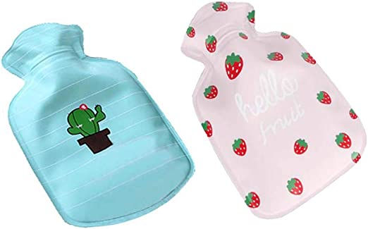 TRAVELLING CHILDRENS CAMPING IDEAL FOR KITCHEN 2 LITTER SIZE PoundSaver/® HOT WATER BOTTLE WITH LUXURY SWEET FLEECE COVER FOR KIDS AND ADULTS 2L PERSONAL HEALTH AND CARE WATER BAG
