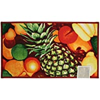 Kashi Home Rectangle Mat with Latex Back Pineapple Series Kitchen Rug, 20 by 40