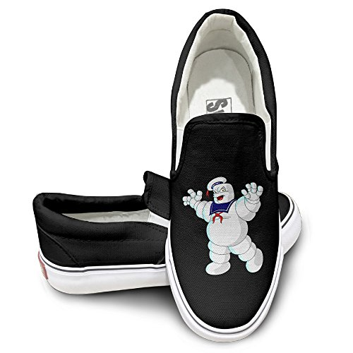 MGTER66 Stay Puft Marshmallow Man Hot Dance Slip On Sneaker Unisex Style Color Black Size 44 (San Lorenzo Collection)