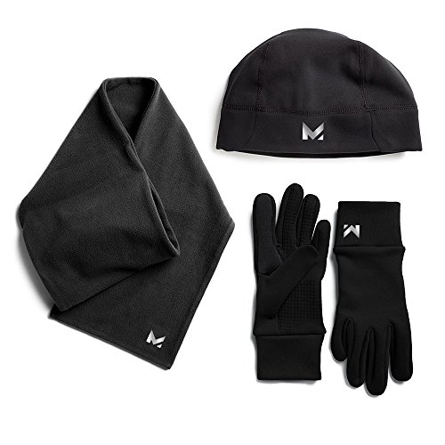 Mission Men's Radiantactive Performance Beanie/Scarf/Glove Set, Black, Small/Medium