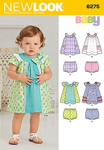Simplicity Creative Patterns New Look 6275 Babies' Dress and Panties, A -