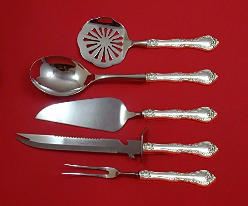 Alencon Lace by Gorham Sterling Silver Thanksgiving Holiday Set 5pc Custom