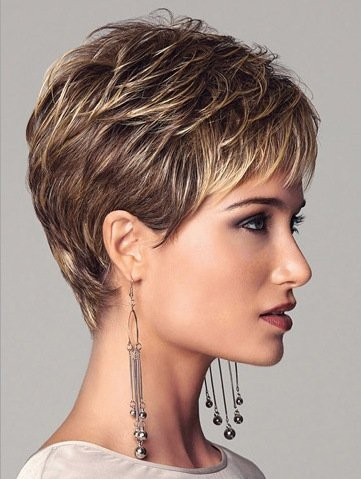 Amazon.com: 2017 Trendy Short Hair Wigs White Women European Synthetic Women Wigs Natural Short Wigs , Picture Color: Sports & Outdoors