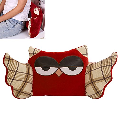 RGTOPONE Soft Waist Pillow Thick Office Airplane Car Home Trains Flannel owl Shoulder Protector Enhanced Design Softer More Comfortable Sleep Nap for Children Adults Seniors